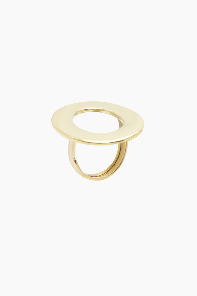Open Oval Statement Ring - Brass