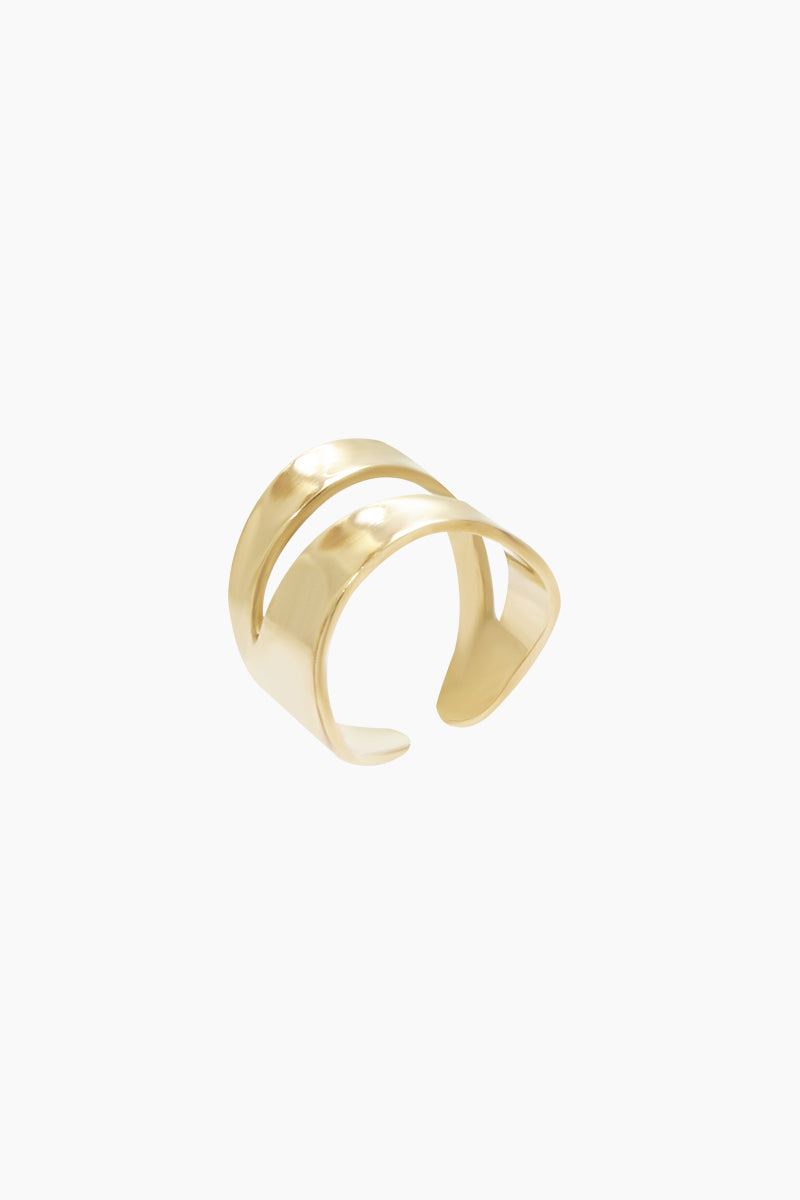 Wimbi Statement Ring - Brass