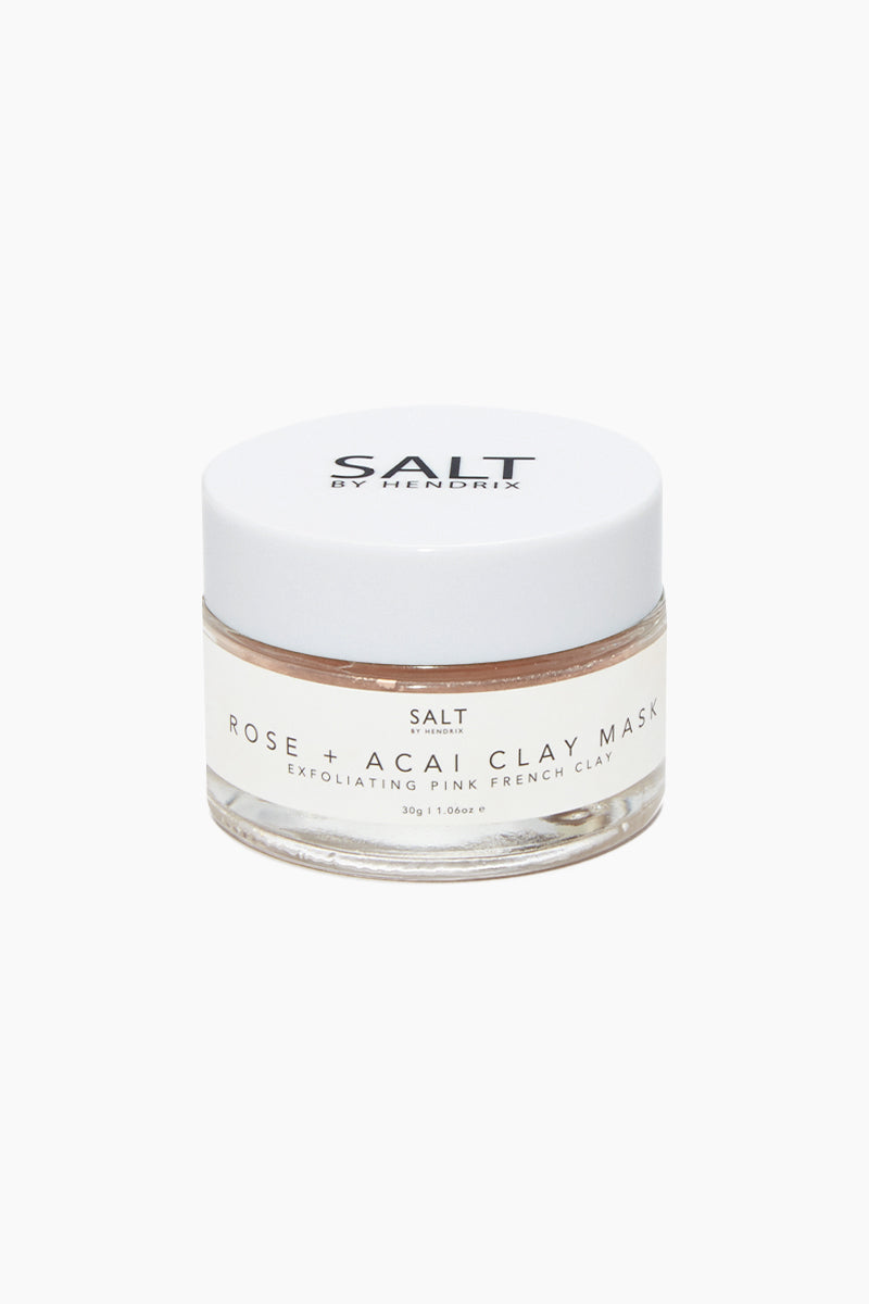 French Clay Exfoliating Face Mask - Rose + Acai