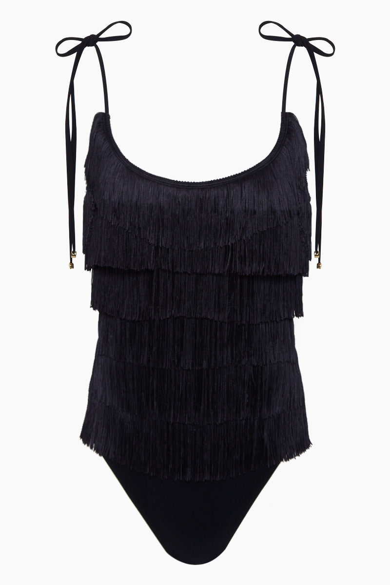 053f9187dce03 STELLA MCCARTNEY Fringe Tie-Shoulder One Piece Swimsuit - Black - undefined  undefined ...