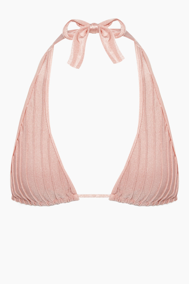 Long Triangle Bikini Top - Light Pink
