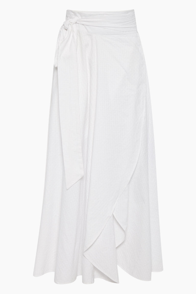Milu Wrap Skirt - Textured White