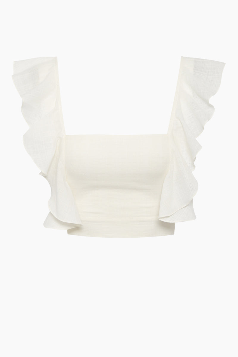 Lubba Cropped Blouse - Off White