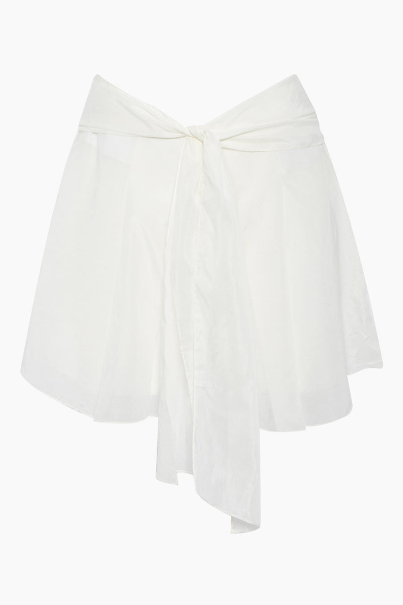 Orla Cotton High Waist Shorts - White
