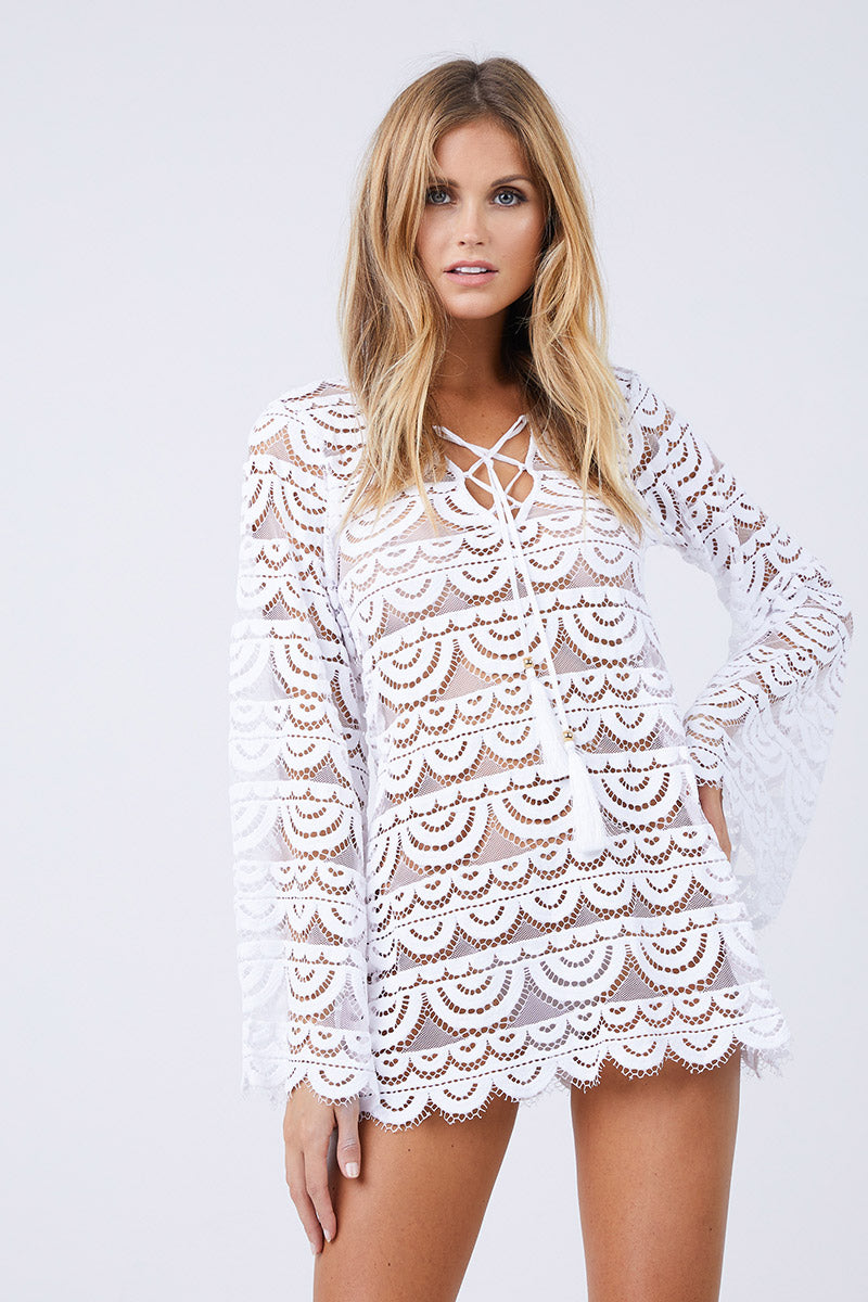 e5f365c151 PILYQ Noah Tunic Cover Up - White | BIKINI.COM