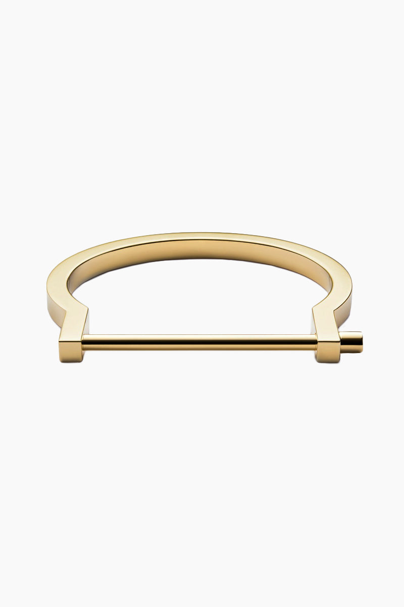 Modern Screw Cuff - Gold