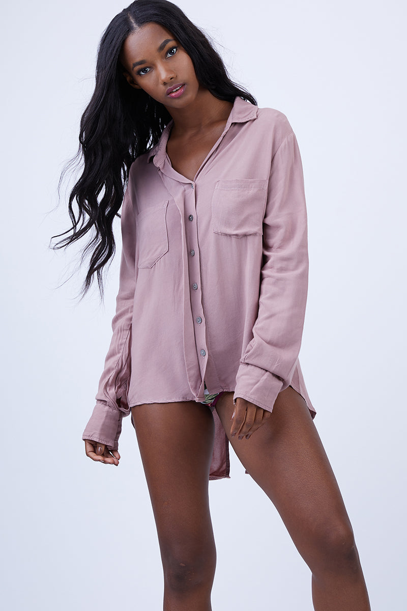 Your Boyfriends Button Up Shirt - Himalayan Pink