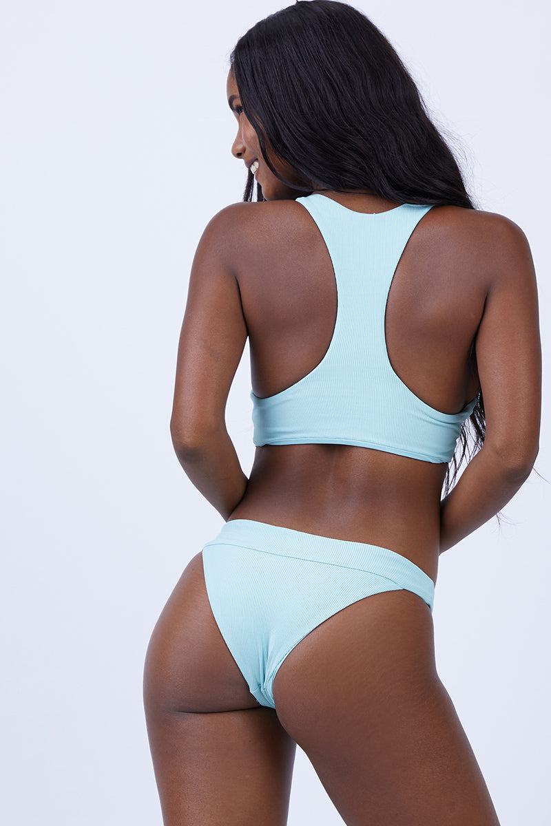 Veronica Thick Band Bikini Bottom - Light Turquoise