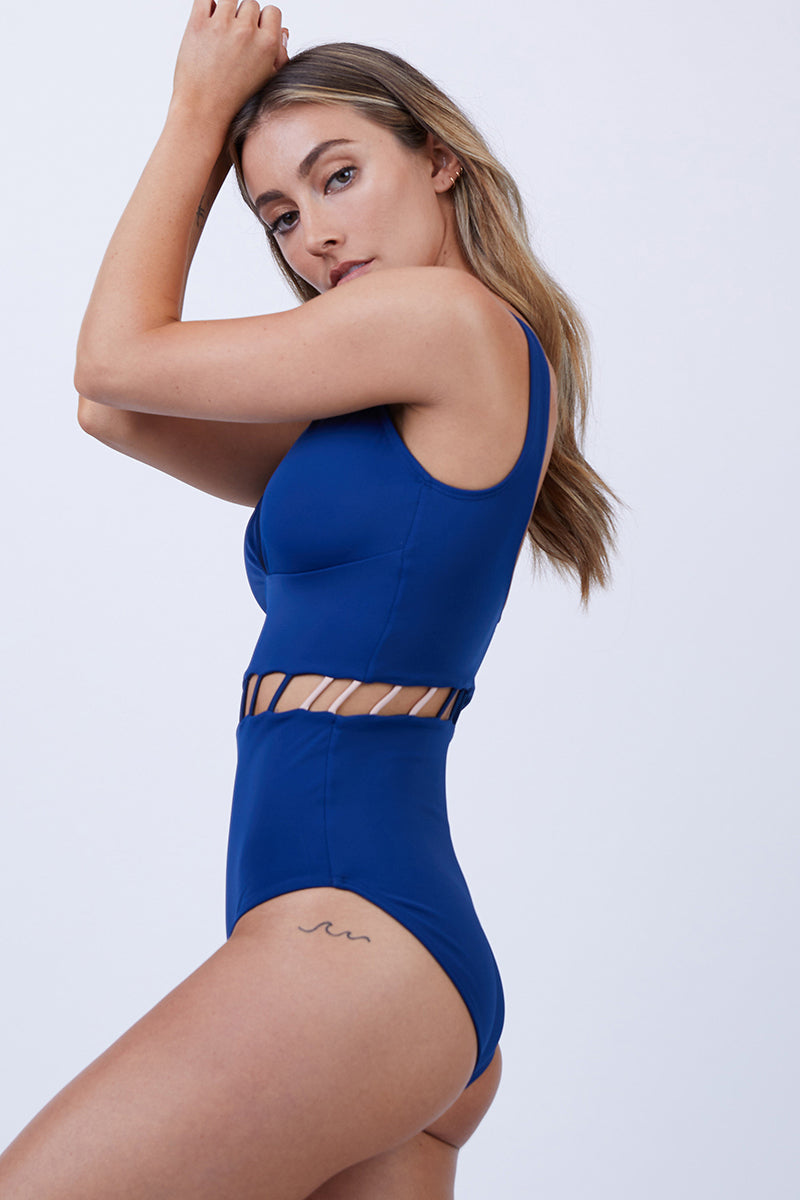 Jade Full One Piece Swimsuit - Royal