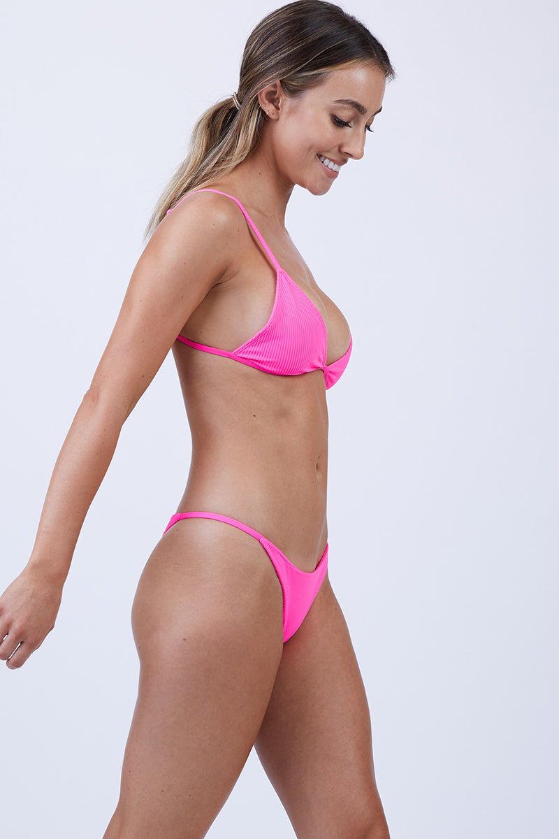 62ea3b6efdf6f ... FRANKIES BIKINIS Willa String Side Skimpy Bikini Bottom - Heart Throb  Pink - undefined undefined