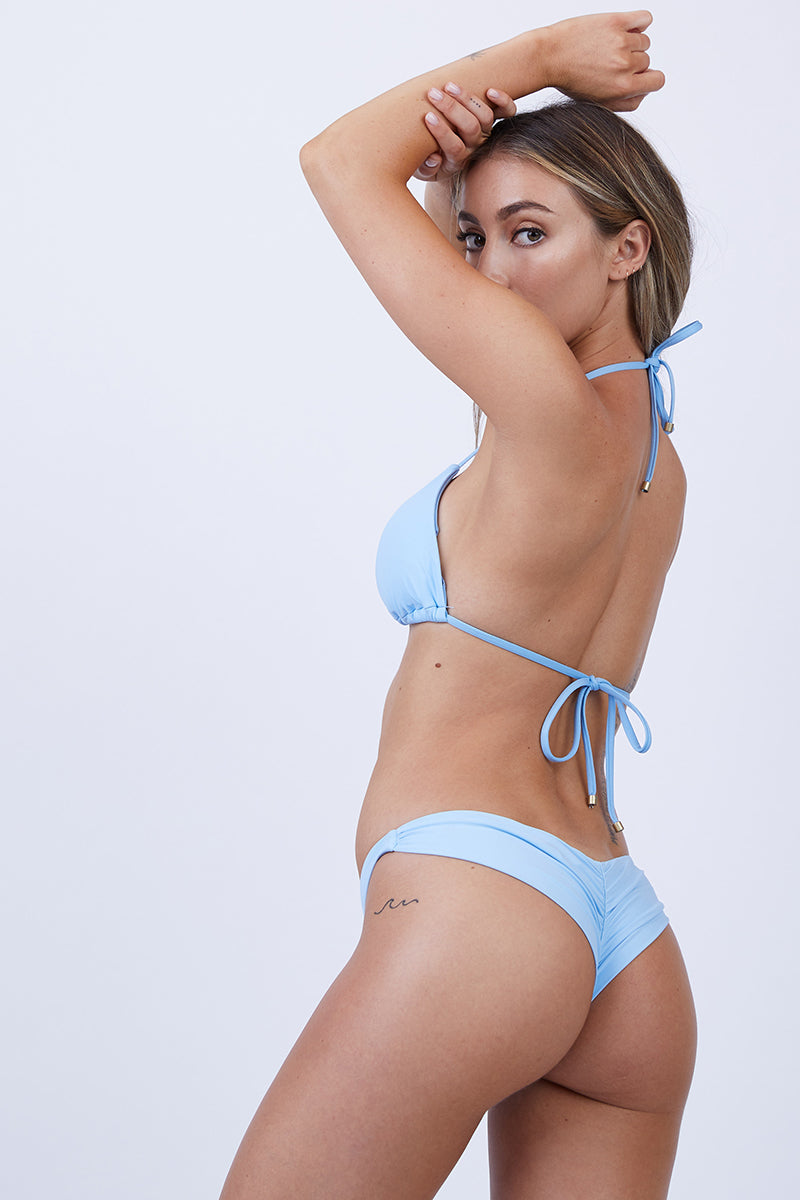 Samba Ruched Back Bottom - Cielo