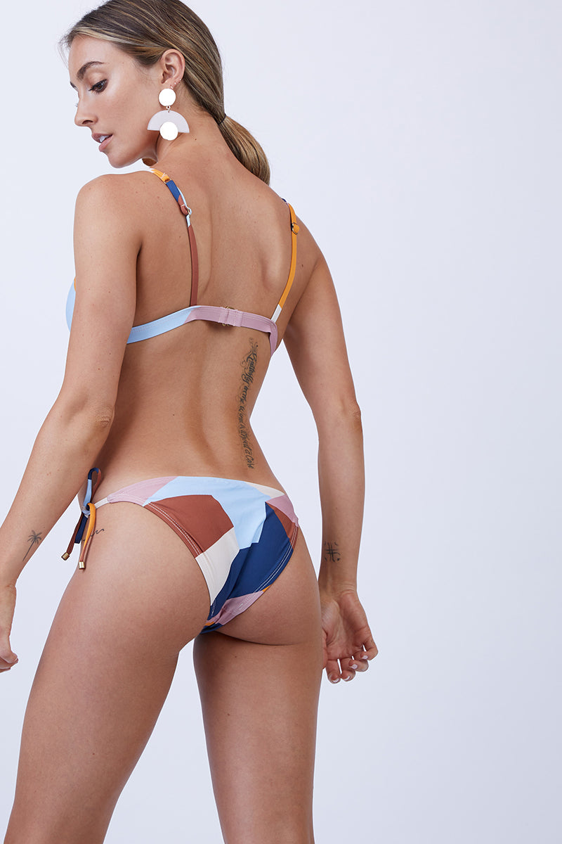 Elle Tie Side Bikini Bottom - Mezcal Abstract Print