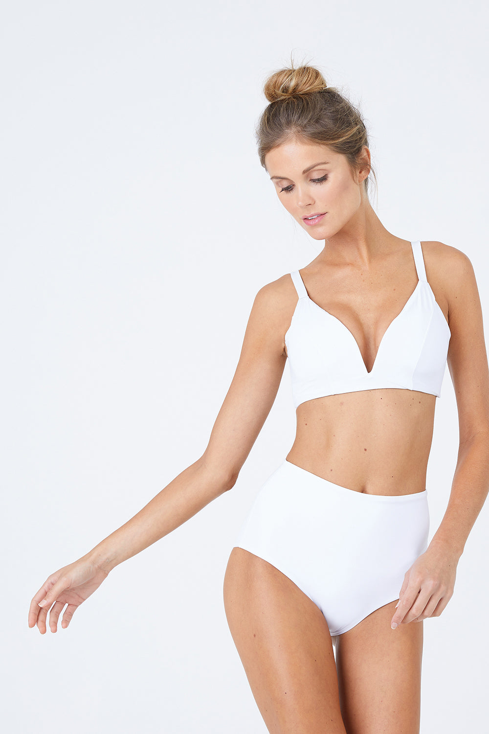 Baltic Crop Bikini Top - White