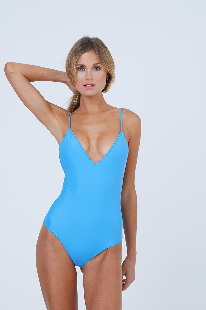 Mickey Plunging Scoop Back One Piece Swimsuit - Patriot Blue
