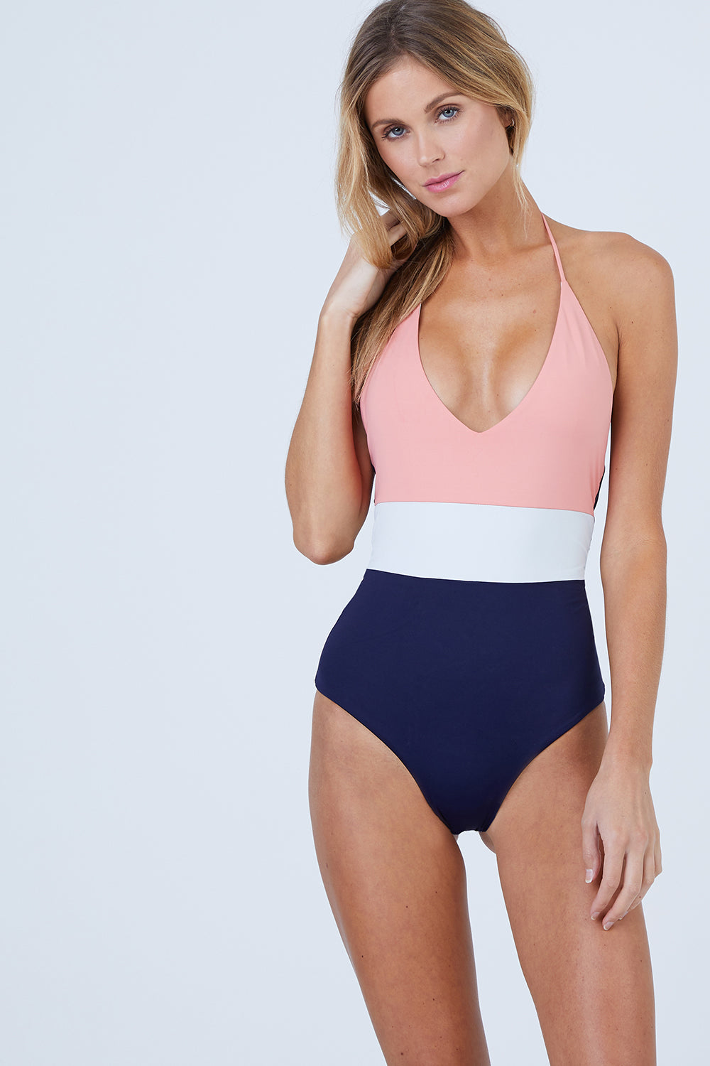 3e822492d9 TAVIK Chase Reversible One Piece Swimsuit - Coral Color Block One Piece