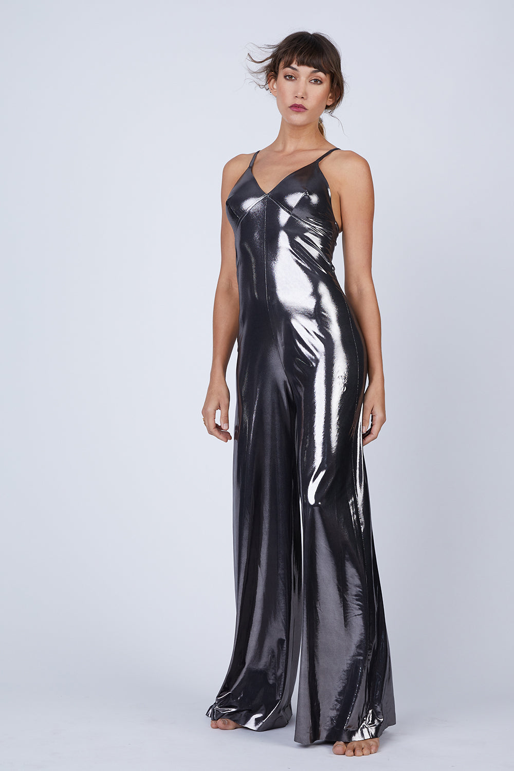 Slip Jumpsuit - Gunmetal Grey