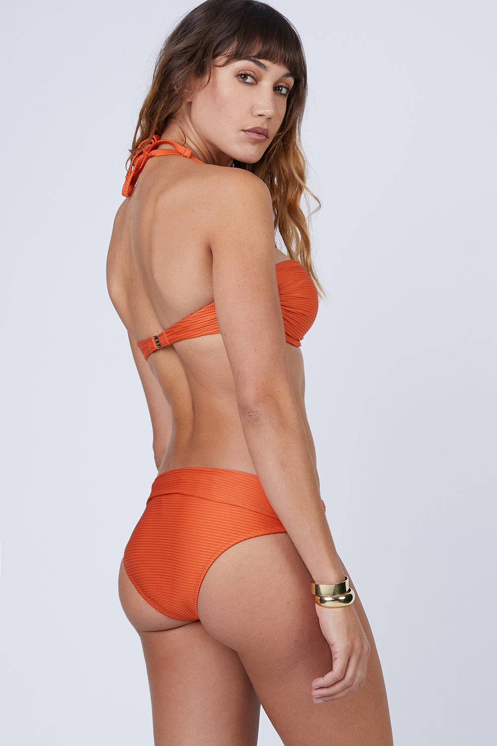 Fold Over Bikini Bottom - Orange