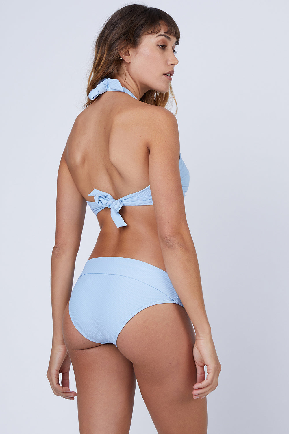 Fold Over Bikini Bottom - Baby Blue