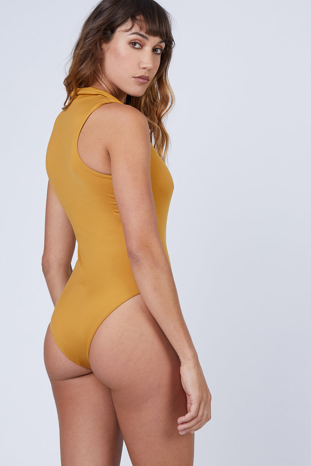 55c65a1b64 ... AMAIO SWIM Collette Plunging One Piece Swimsuit - Gold - undefined  undefined