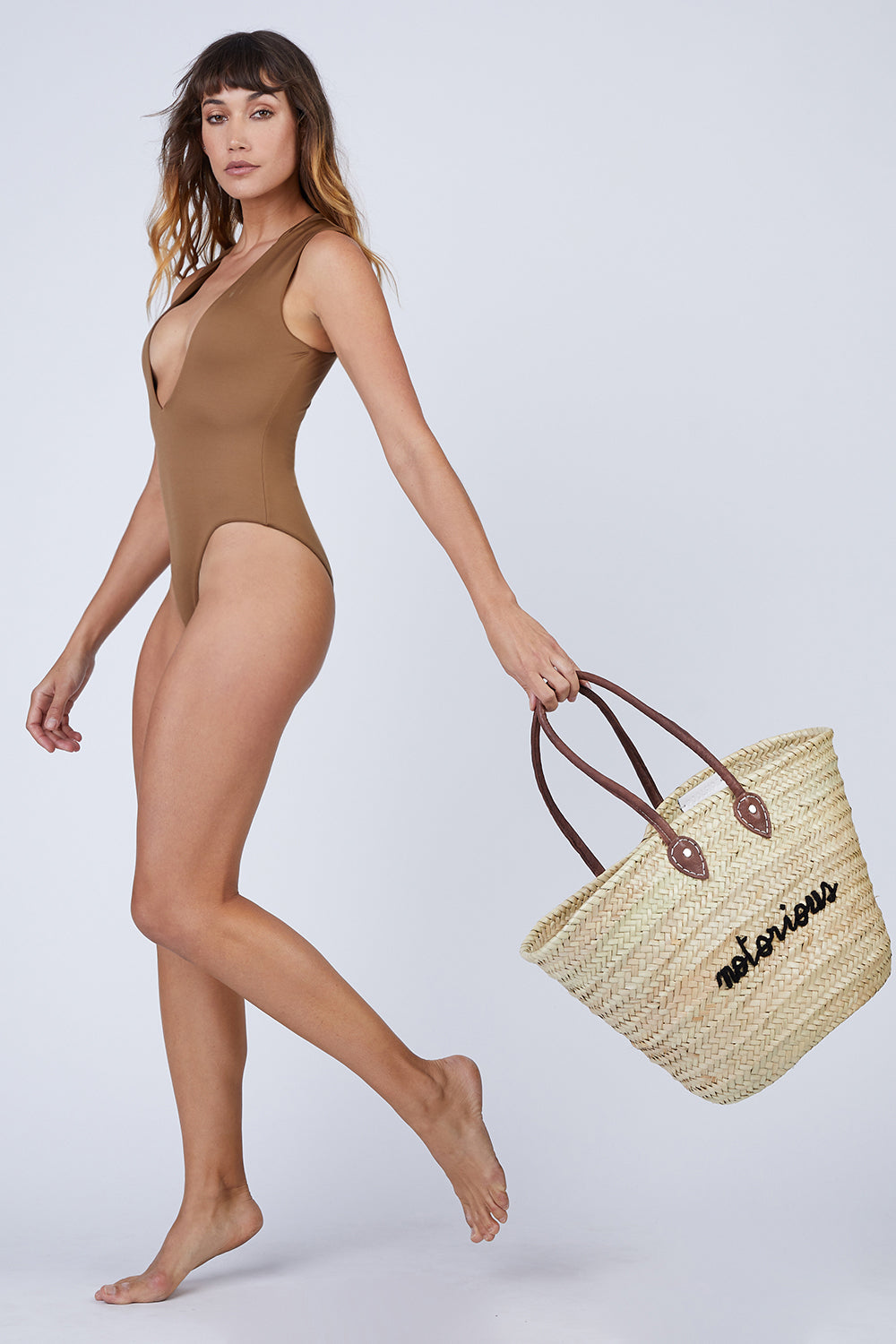 Notorious La Plage Embroidered Straw Tote