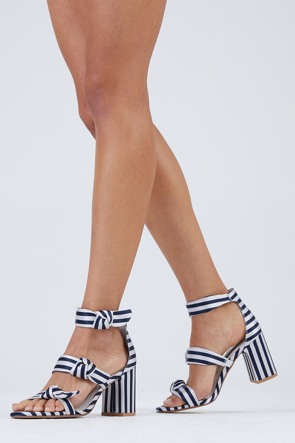 51f62ff0001e ... SENSO Melvy II Triple Strap Heel Sandals - Midnight Stripe Print -  undefined undefined