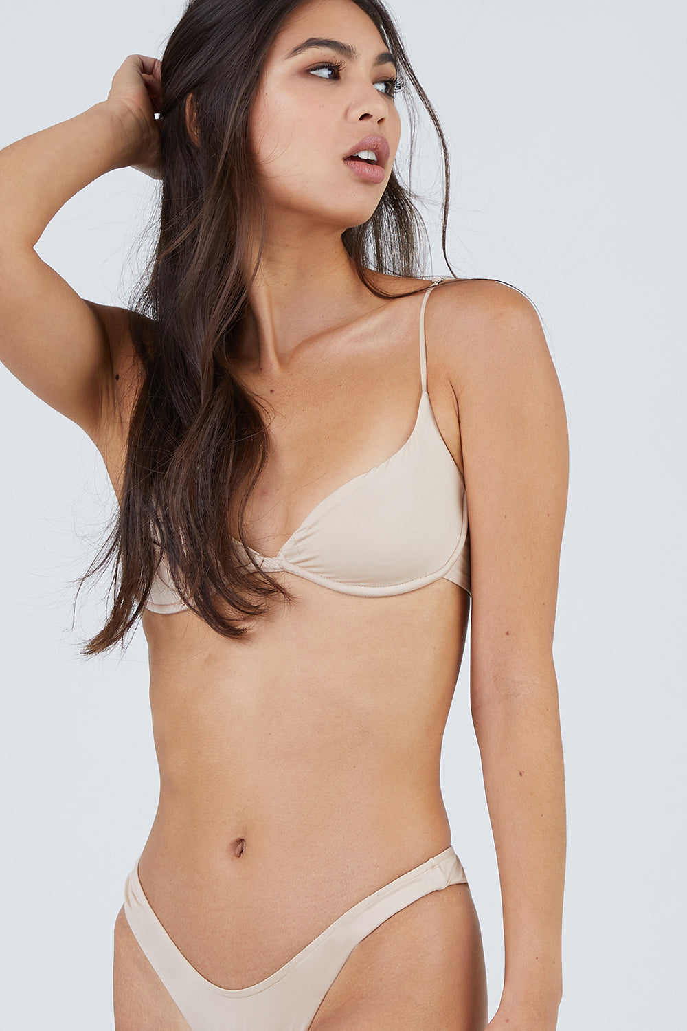Start Me Up Underwire Bikini Top - Sand