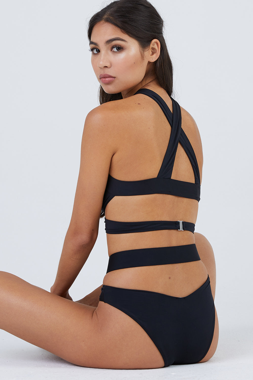 Endless Summer Wrap Around Bikini Bottom - Black