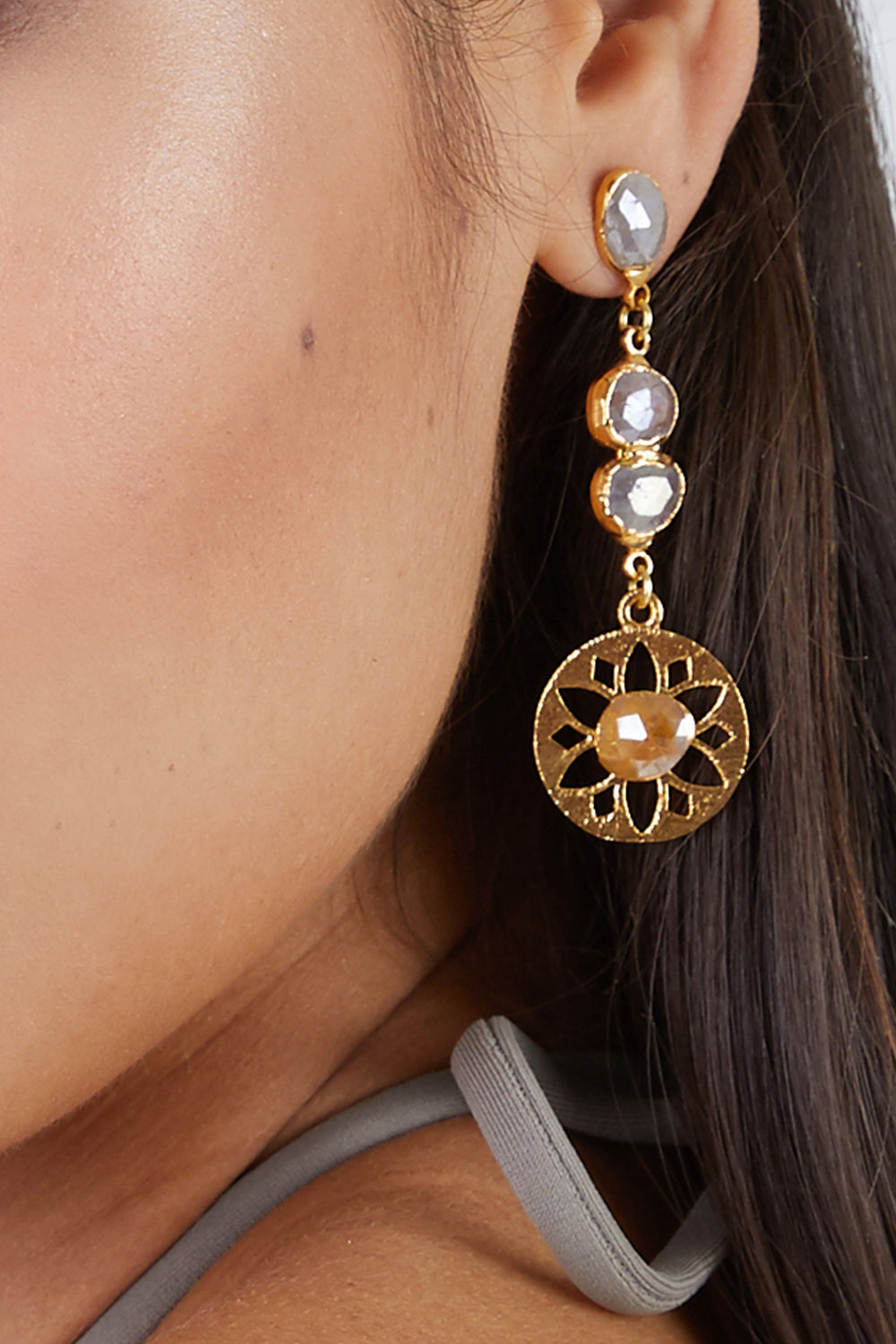 0d0618980 ... LUX DIVINE Olympia Earrings - Pink/Yellow - undefined undefined