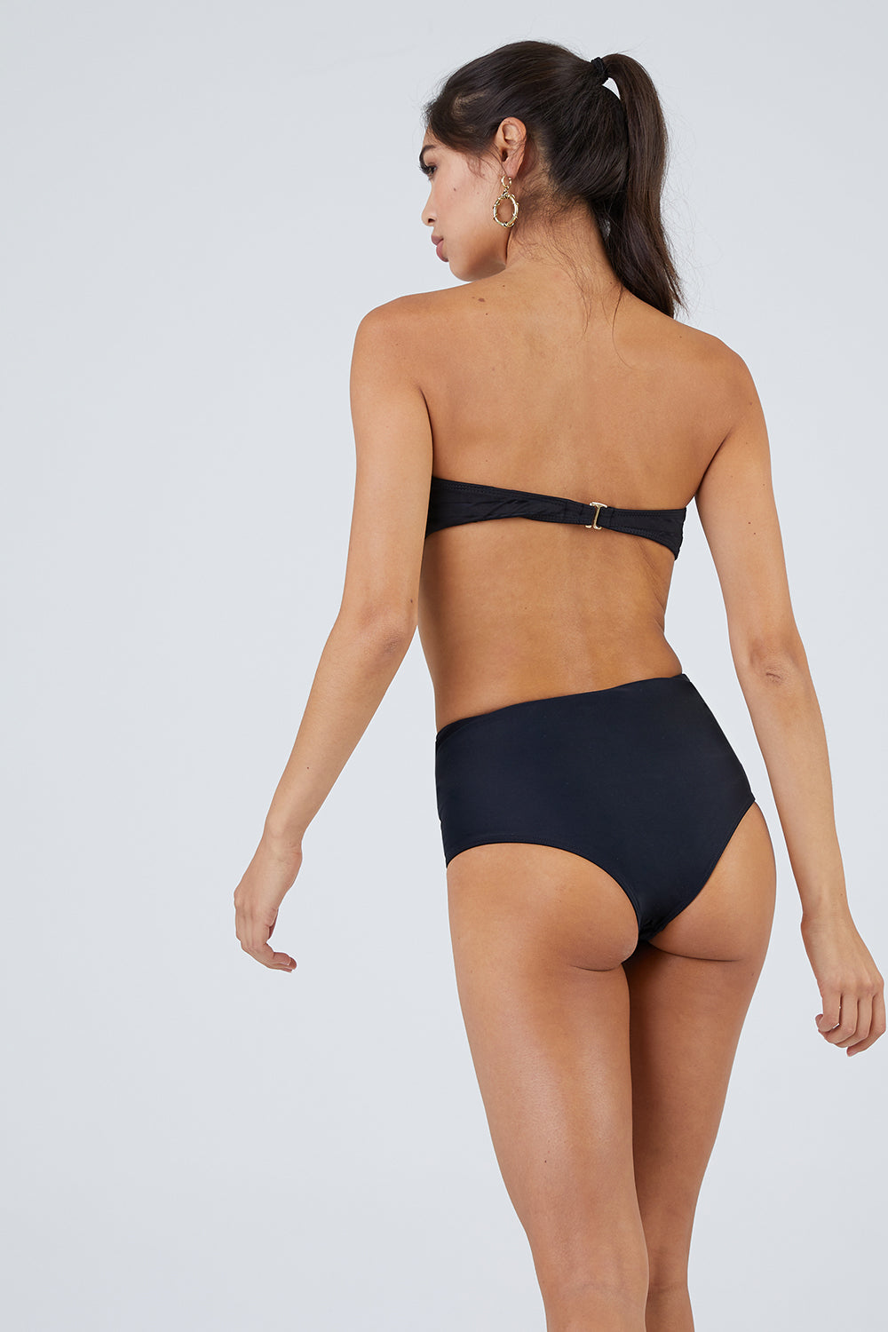 2176bb0ebe BEACH RIOT Harbor Criss Cross Cut Outs Bikini Bottom - Sassy Black -  undefined undefined ...