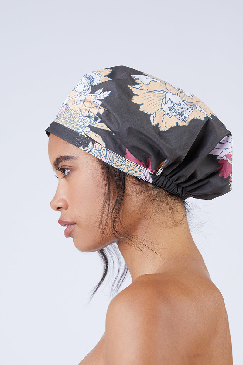 Astor Shower Cap - Chocolate Floral