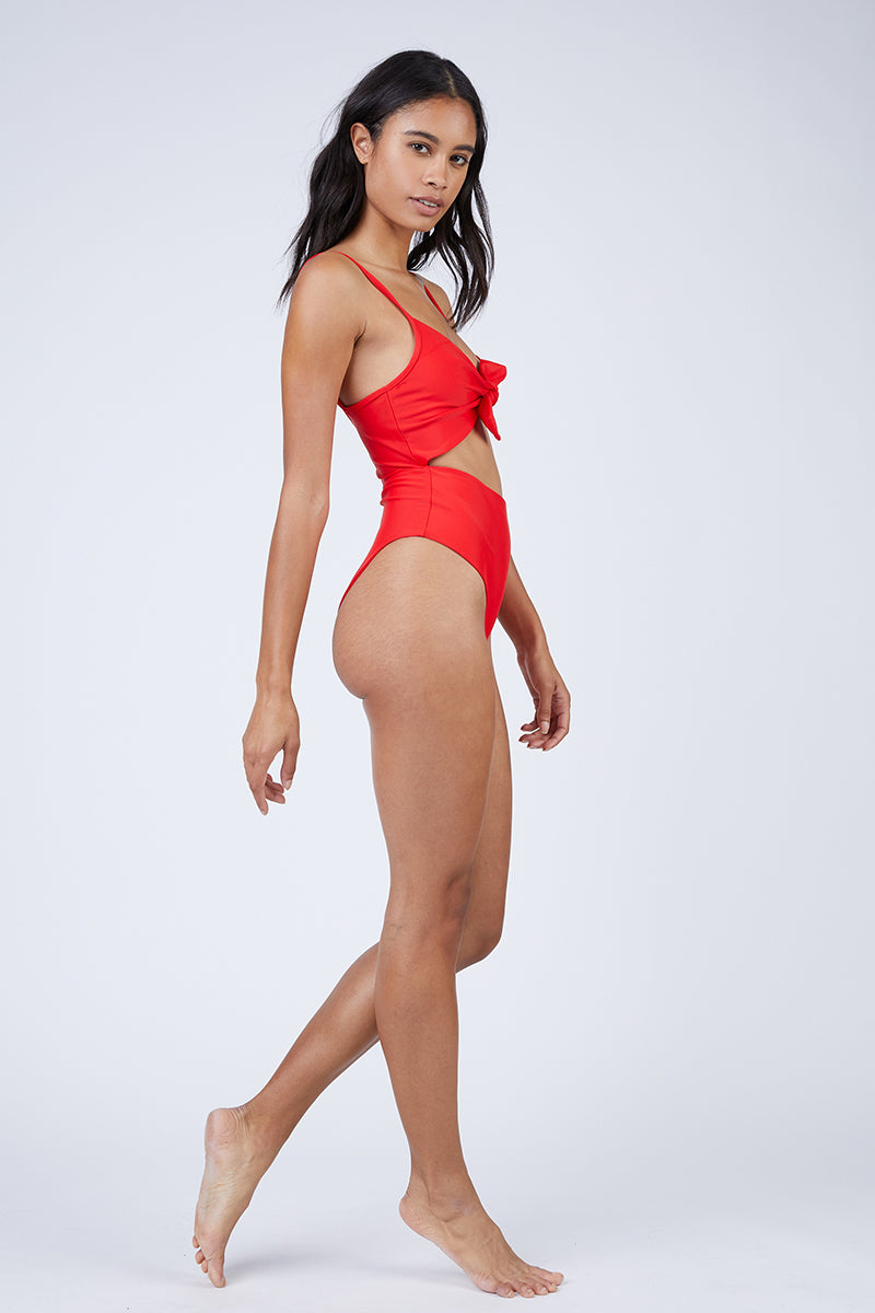 42918e1714bf ... REVERSE Elora Front Cut Out One Piece Swimsuit - Red - undefined  undefined