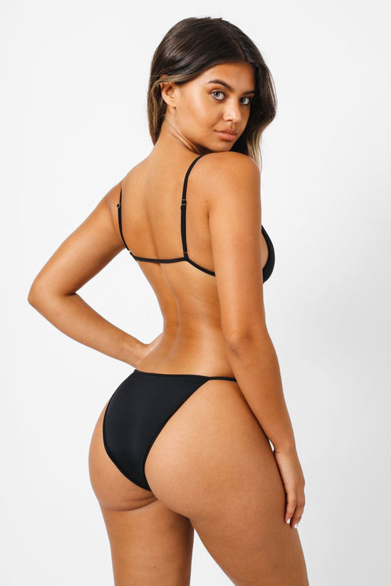f027023d98be0 KAOHS Liv Thin Strap Bikini Bottom - Black - undefined undefined ...
