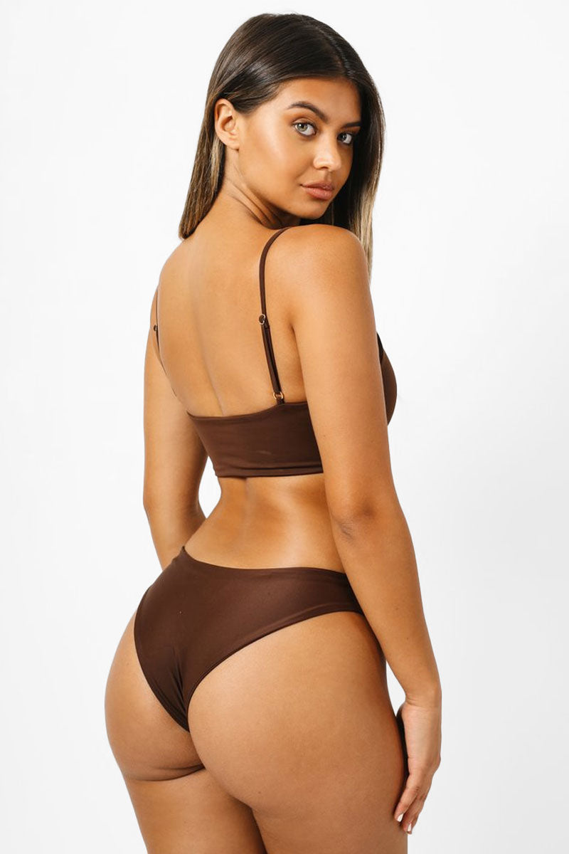 Jimi Cheeky Bikini Bottom - Chocolate Brown