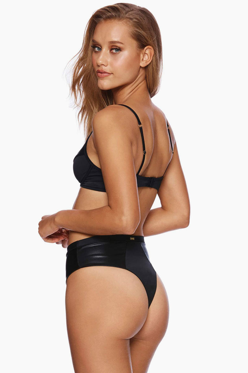 Layla High Waist Bikini Bottom - Black