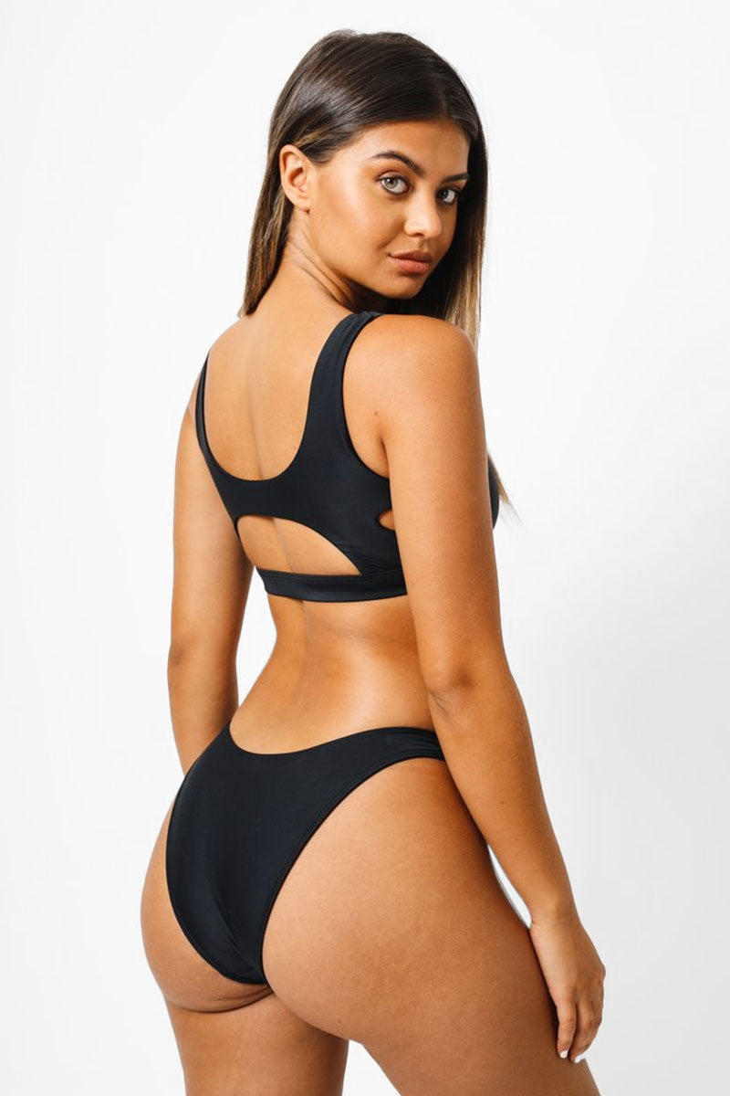 Shelby Cheeky Bikini Bottom - Black
