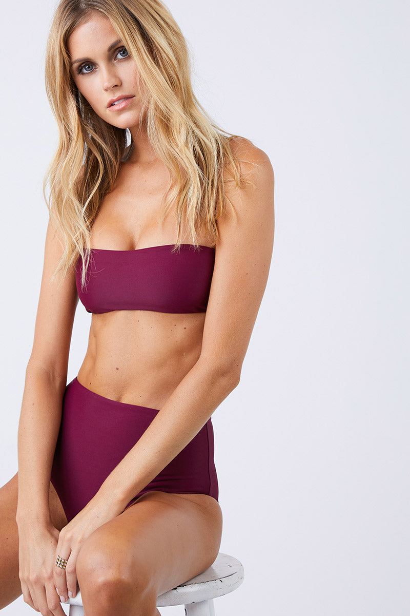 All Around Bandeau Bikini Top - Fig Purple