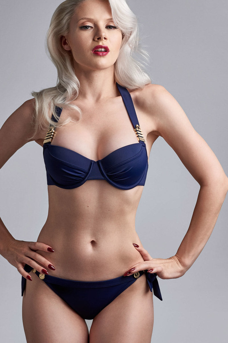 c0d54bfdc2 ... MARLIES DEKKERS Tie   Bow Brief Bikini Bottom - Royal Navy - undefined  undefined