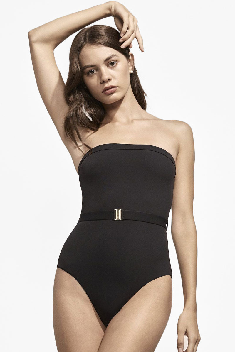 4fd30a993e5d9 ... AMAIO SWIM Nathalie Belted High Cut One Piece Swimsuit - Black -  undefined undefined