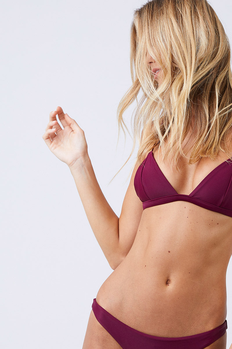 Perfect Match Triangle Bikini Top - Fig