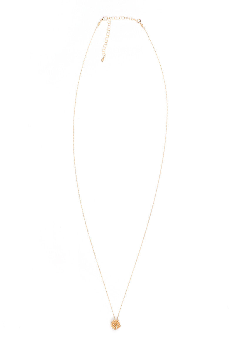 MAILEE Love Knot Necklace Accessories | Gold|