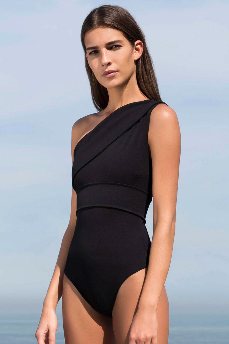 f55d7f1e29 ... HAIGHT Maria One Shoulder One Piece Swimsuit - Black - undefined  undefined