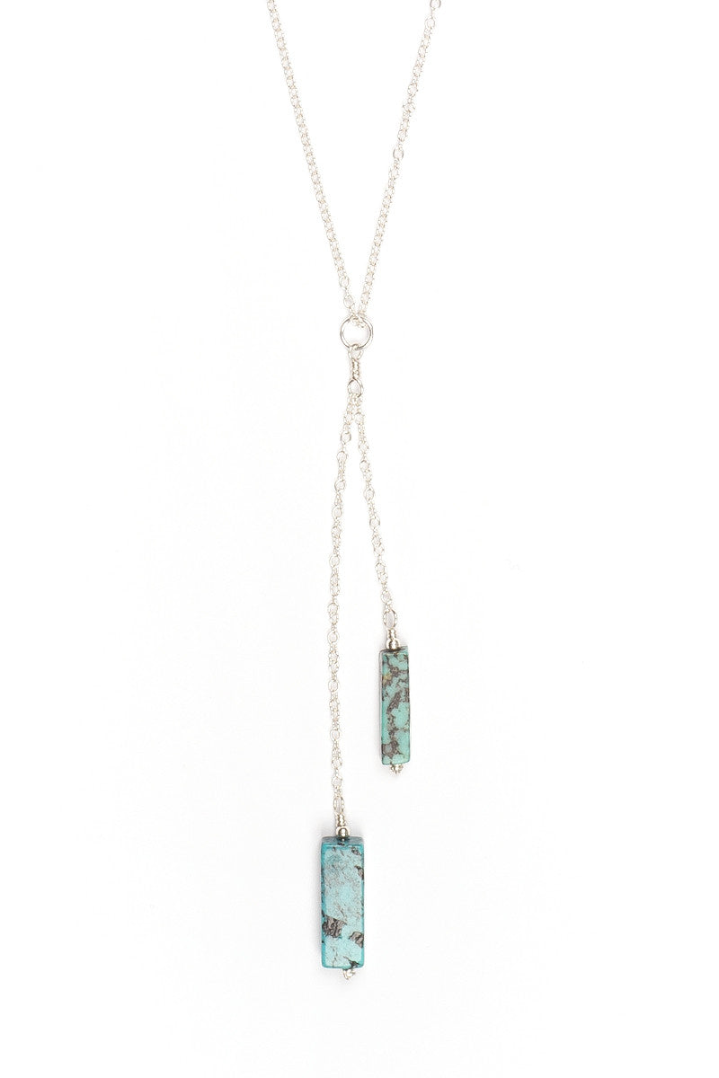 Tiered Turquoise Necklace - Silver