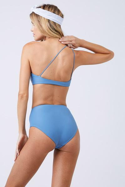 Bound High Waisted Bikini Bottom - Sky Blue