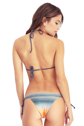 FERN Drizzle Reversible Bottom Bikini Bottom | Oceanside/Navy