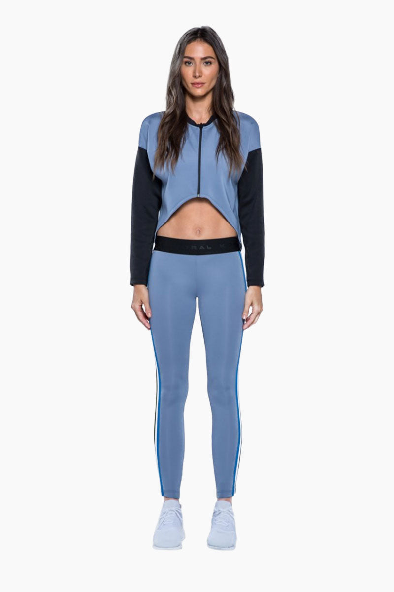 Ace Color Block Cropped Jacket - Nova Blue/Black