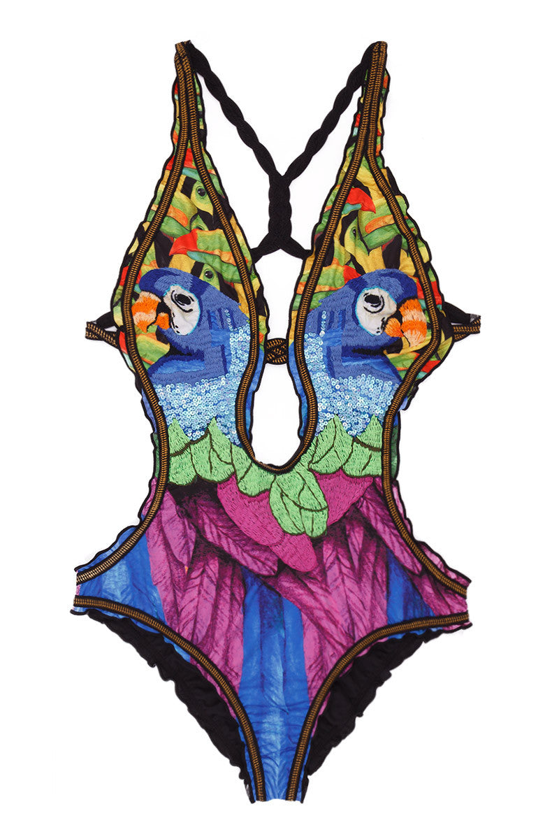 AGUA BENDITA Bendito Celestino One Piece Swimsuit