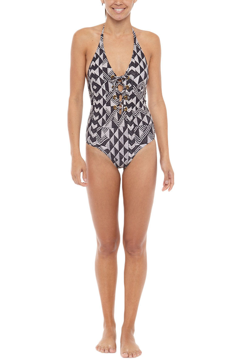 Elese One Piece Swimsuit - Black Sands
