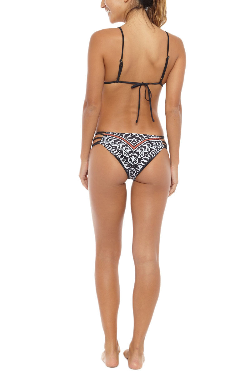 AMUSE SOCIETY Meromar Cheeky Bottom Bikini Bottom | Red/Black Sands| Amuse Society Meromar Cheeky Bottom