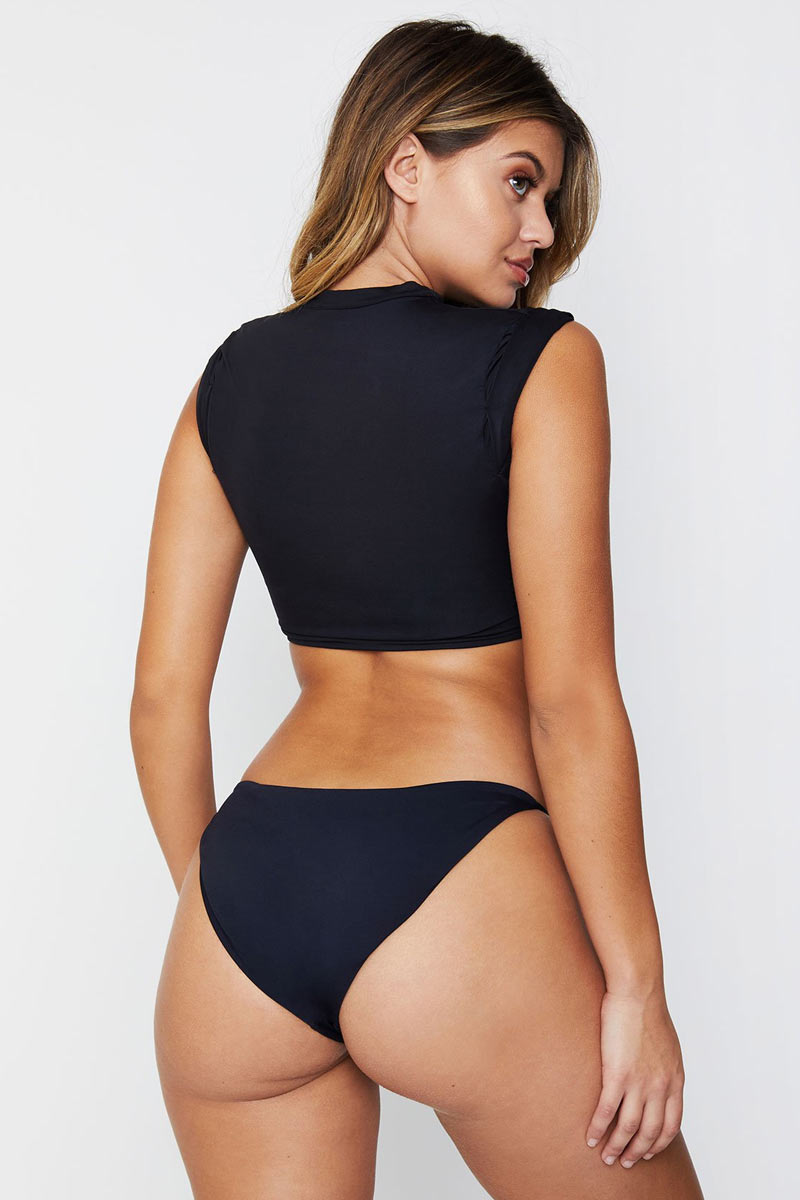 Ashley Low Rise Cheeky Bikini Bottom - Black