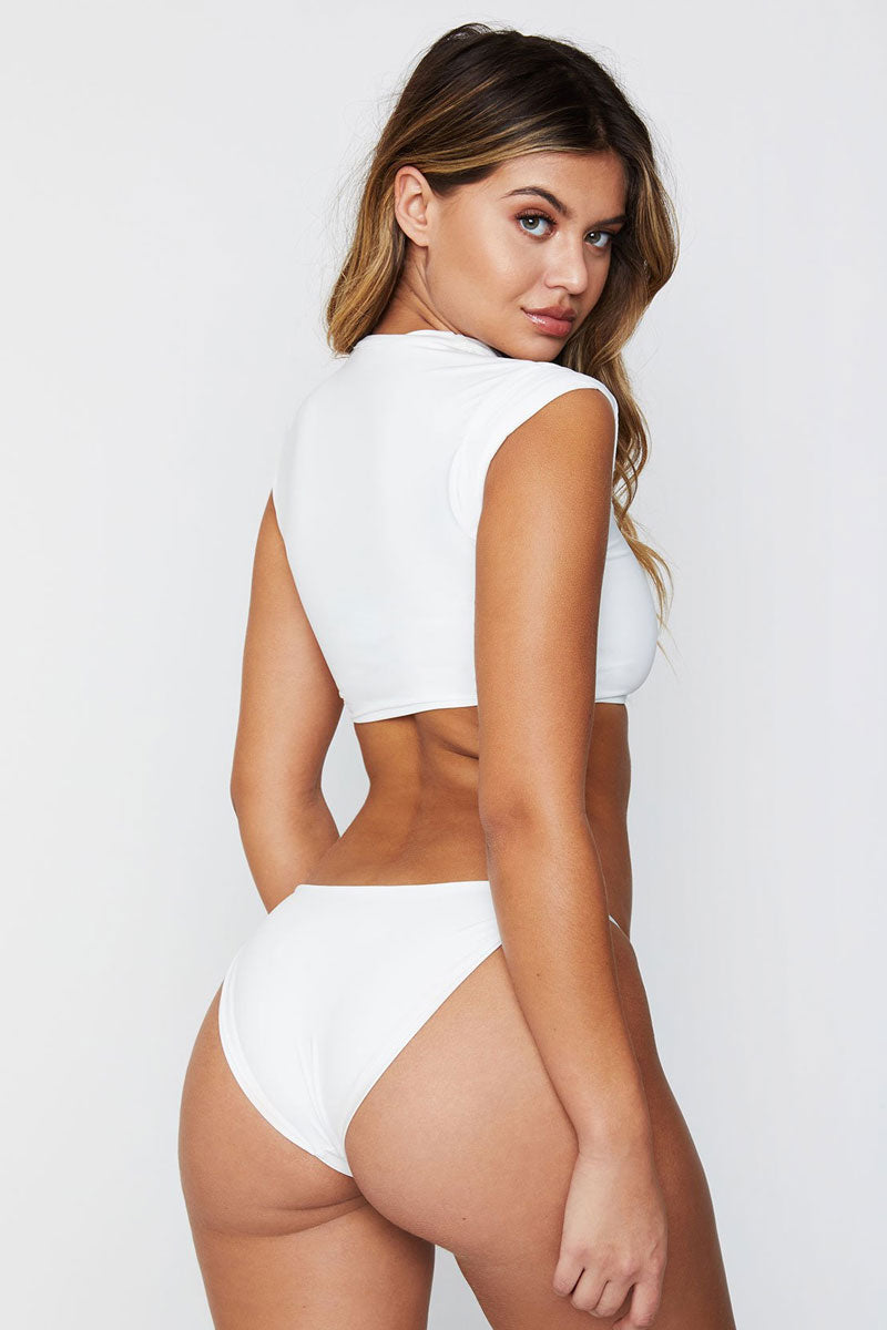 Ashley Low Rise Cheeky Bikini Bottom - White